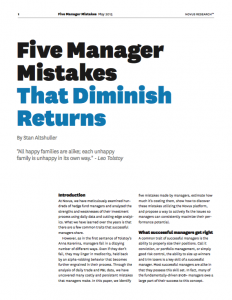 Five Manager Mistakes That Dimish Returns WP