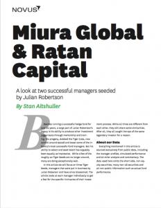 Miura Global & Ratan Capital