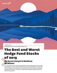 the best and worst hedge fund stocks of 2015