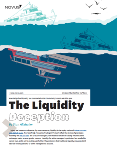 The Liquidity Deception